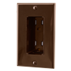 Tamper Resistant Discreet Decor Recessed Outlet, Brown