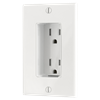 Tamper Resistant Discreet Decor Recessed Outlet, White